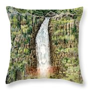 Woman In The Mist Throw Pillow