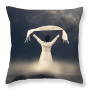 Woman In Water Throw Pillow