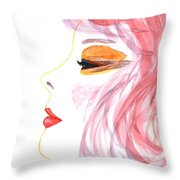 Woman Inner Trust Watercolor Painting Throw Pillow