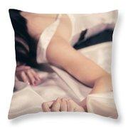 Woman Throw Pillow by Joana Kruse