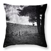 Woman On The Hill Throw Pillow