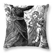 Woman Preaching, 1888 Throw Pillow