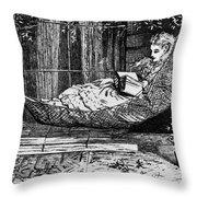Woman Reading, C1873 Throw Pillow