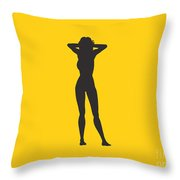 Woman Relaxed  Throw Pillow