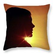 Woman Silhouette Throw Pillow