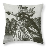 Woman With Surgical Equipment, 18th Throw Pillow