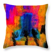 Woman With Three Legs Throw Pillow