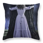 Woman With Trunk Throw Pillow by Joana Kruse