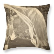 Woman With Veil Throw Pillow