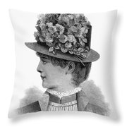 Womans Hat, 1883 Throw Pillow