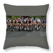 Women's Criterium Tour De White Rock Throw Pillow