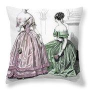 Womens Fashion, 1843 Throw Pillow