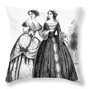 Womens Fashion, 1851 Throw Pillow
