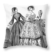 Womens Fashion, 1853 Throw Pillow