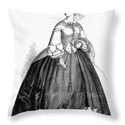 Womens Fashion, 1857 Throw Pillow