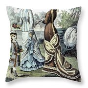 Womens Fashion, 1877 Throw Pillow