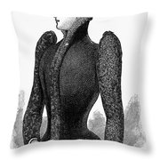 Womens Fashion, 1890 Throw Pillow