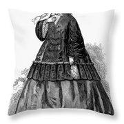 Womens Fashion, C1850s Throw Pillow