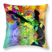 Wondrous 2 Throw Pillow by Angelina Vick