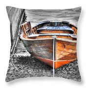 Wood Boat Throw Pillow