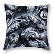 Wood Carving Patterns Throw Pillow