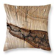 Wood Design Throw Pillow
