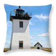 Wood End Lighthouse In Provincetown On Cape Cod Massachusetts Throw Pillow