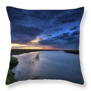 Wood River Saskatchewan Canada Throw Pillow