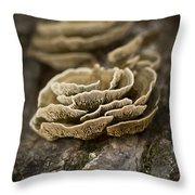 Wood Shrooms Throw Pillow