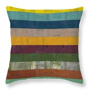 Wooden Abstract Ll Throw Pillow