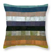 Wooden Abstract Lv Throw Pillow