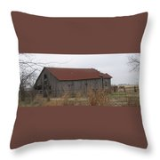 Wooden Barn Throw Pillow
