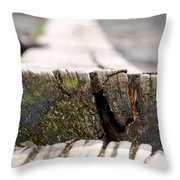 Wooden Board Throw Pillow
