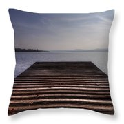 Wooden Bridge Throw Pillow by Joana Kruse