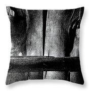 Wooden Corset  Throw Pillow