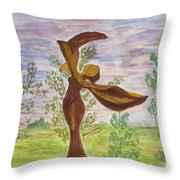 Wooden Femme Throw Pillow