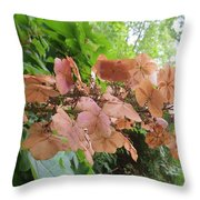 Wooden Hydrangea Throw Pillow