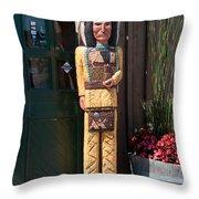 Wooden Indian Throw Pillow
