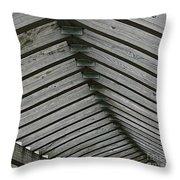Wooden Ribs Throw Pillow