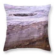 Wooden Ring Abstract Throw Pillow