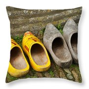Wooden Shoes Throw Pillow