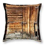 Wooden Slats Barn Throw Pillow