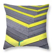 Wooden Stairs Throw Pillow