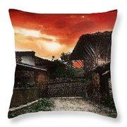 Woodern Village Throw Pillow