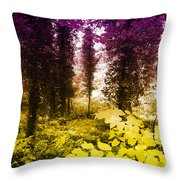 Woodland Color Throw Pillow