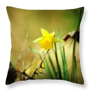 Woodland Narcissus Throw Pillow