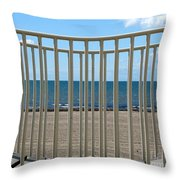 Woodlawn Beach State Park Through Playground Equipment  Throw Pillow