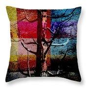 Woodpecker Home Throw Pillow