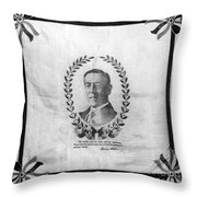 Woodrow Wilson Bandana Throw Pillow