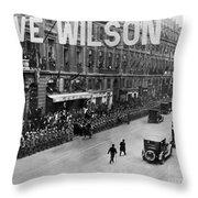 Woodrow Wilson In Paris Throw Pillow